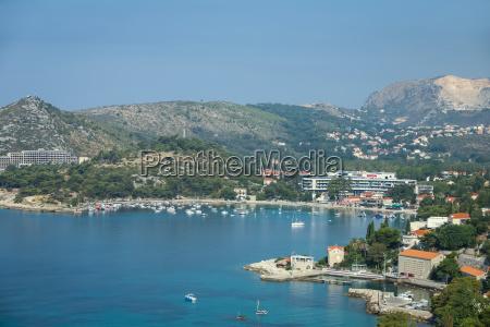 srebreno on mediterranean coast